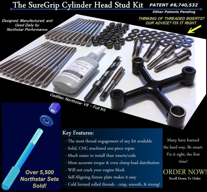 Cadillac Head Gasket Repair: SureGrip Cylinder Head Stud Kits